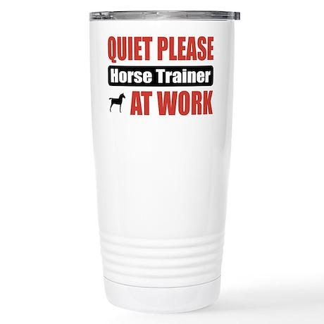 Horse Trainer Work Stainless Steel Travel Mug