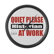 Historian Work Large Wall Clock