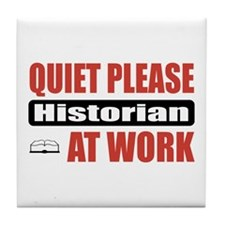 Historian Work Tile Coaster
