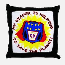 Super Diaper Throw Pillow