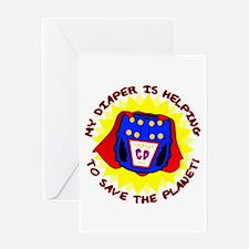 Super Diaper Greeting Card