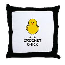 Crochet Chick Throw Pillow
