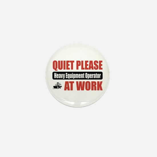 Heavy Equipment Operator Work Mini Button
