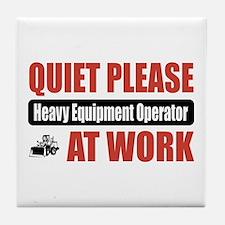 Heavy Equipment Operator Work Tile Coaster