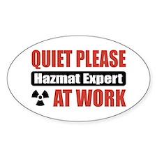 Hazmat Expert Work Oval Decal