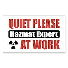 Hazmat Expert Work Rectangle Decal