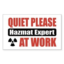 Hazmat Expert Work Rectangle Sticker 50 pk)