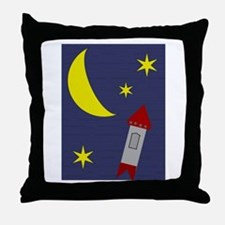 Teenie Space Throw Pillow