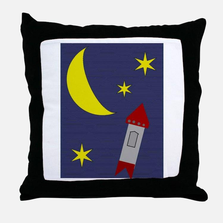 Teenie Space Throw Pillow