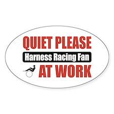 Harness Racing Fan Work Oval Stickers