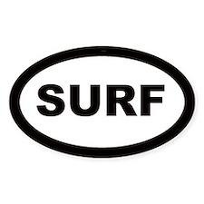 Surf Car Oval Decal