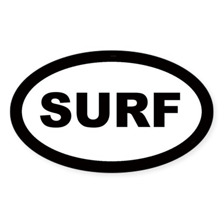 Surf Car Oval Sticker