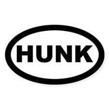 Hunk Car Oval Decal