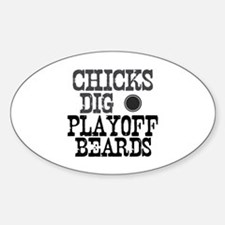 Hockey Playoff Beards Oval Decal