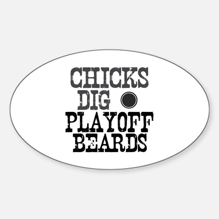 Hockey Playoff Beards Oval Decal