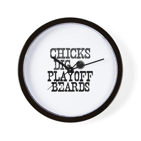 Hockey Playoff Beards Wall Clock