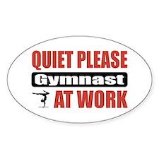 Gymnast Work Oval Decal