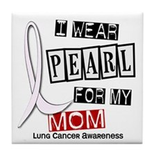 I Wear Pearl For My Mom 37 Tile Coaster