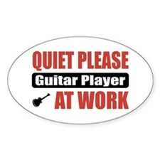 Guitar Player Work Oval Decal