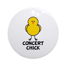 Concert Chick Ornament (Round)