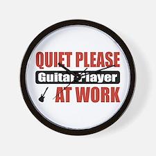 Guitar Player Work Wall Clock