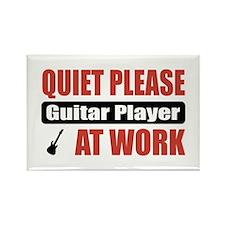 Guitar Player Work Rectangle Magnet