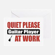 Guitar Player Work Greeting Card