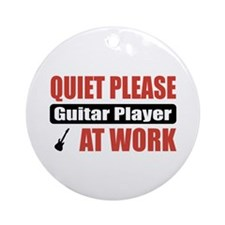 Guitar Player Work Ornament (Round)