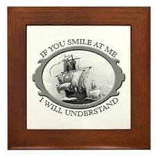 """If You Smile At Me"" Framed Tile"