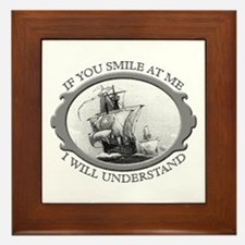 """""""If You Smile At Me"""" Framed Tile"""