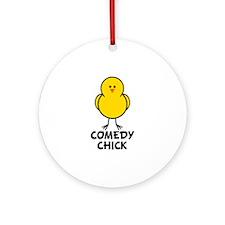 Comedy Chick Ornament (Round)
