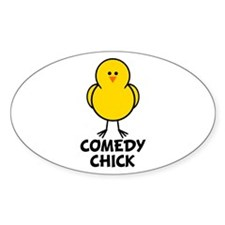 Comedy Chick Oval Decal