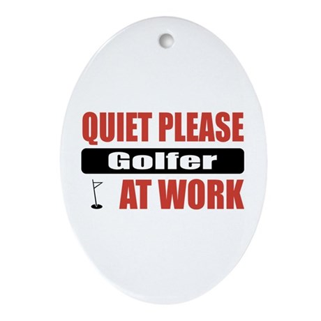 Golfer Work Oval Ornament