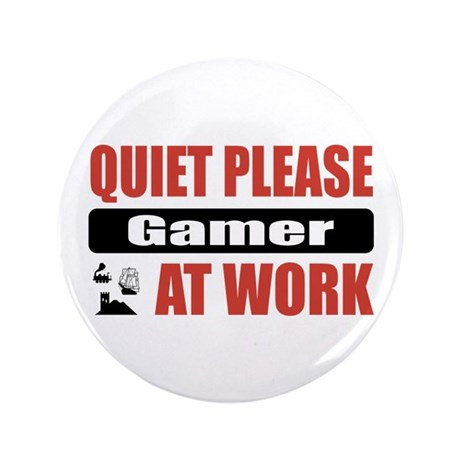 "Gamer Work 3.5"" Button (100 pack)"