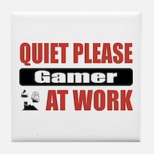 Gamer Work Tile Coaster