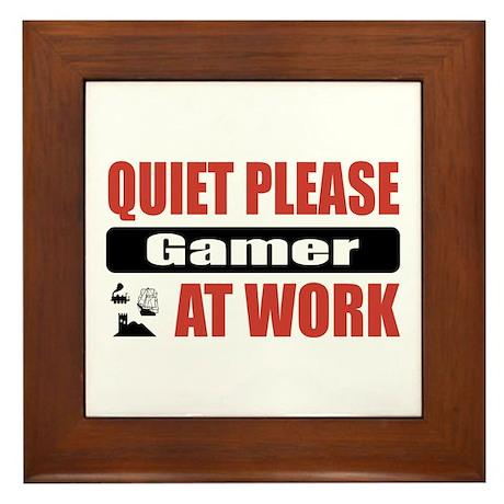 Gamer Work Framed Tile