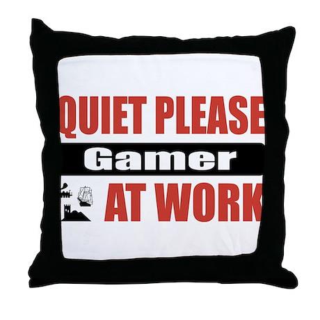 Gamer Work Throw Pillow