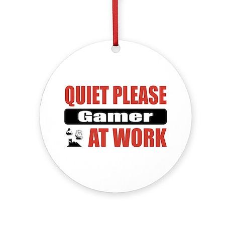 Gamer Work Ornament (Round)