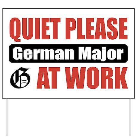 German Major Work Yard Sign