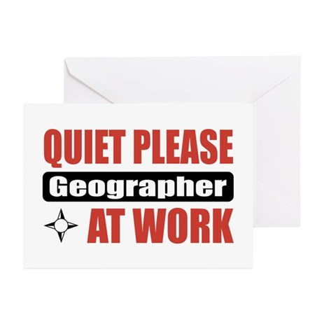 Geographer Work Greeting Cards (Pk of 20)