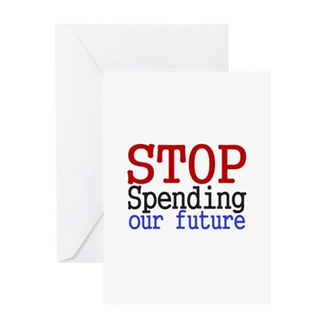 Stop Spending Our Future Greeting Card