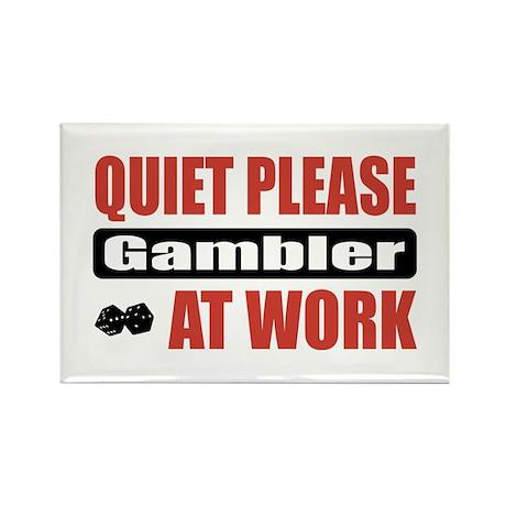 Gambler Work Rectangle Magnet (100 pack)