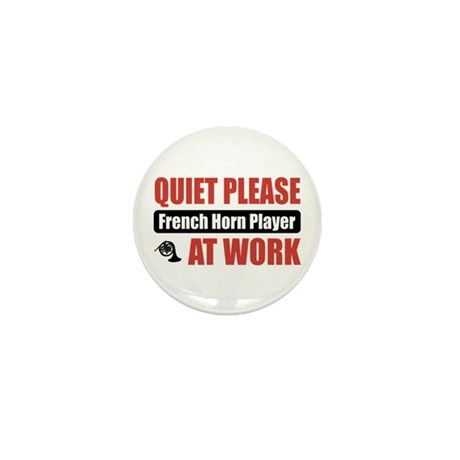 French Horn Player Work Mini Button