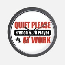 French Horn Player Work Wall Clock