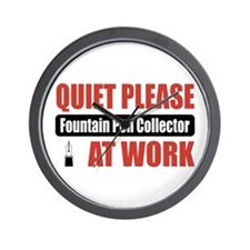 Fountain Pen Collector Work Wall Clock