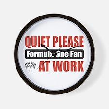 Formula One Fan Work Wall Clock