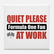 Formula One Fan Work Tile Coaster