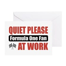 Formula One Fan Work Greeting Card