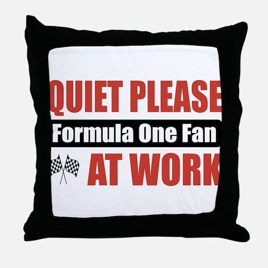 Formula One Fan Work Throw Pillow
