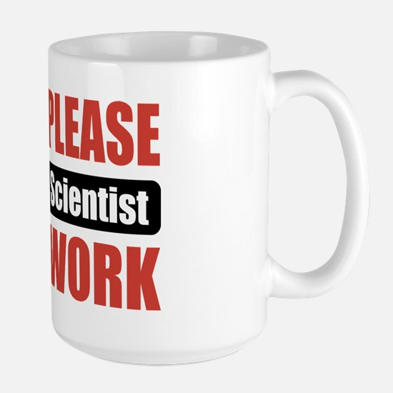 Forensic Scientist Work Large Mug